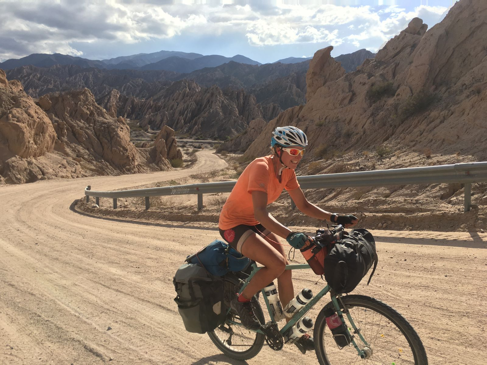Riding in the Calaquí Valley. Argentina