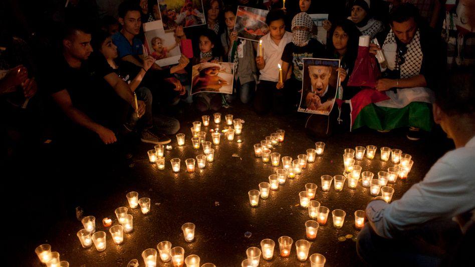 Gedenken an die Toten: Palästinensische Kinder Ende Juli