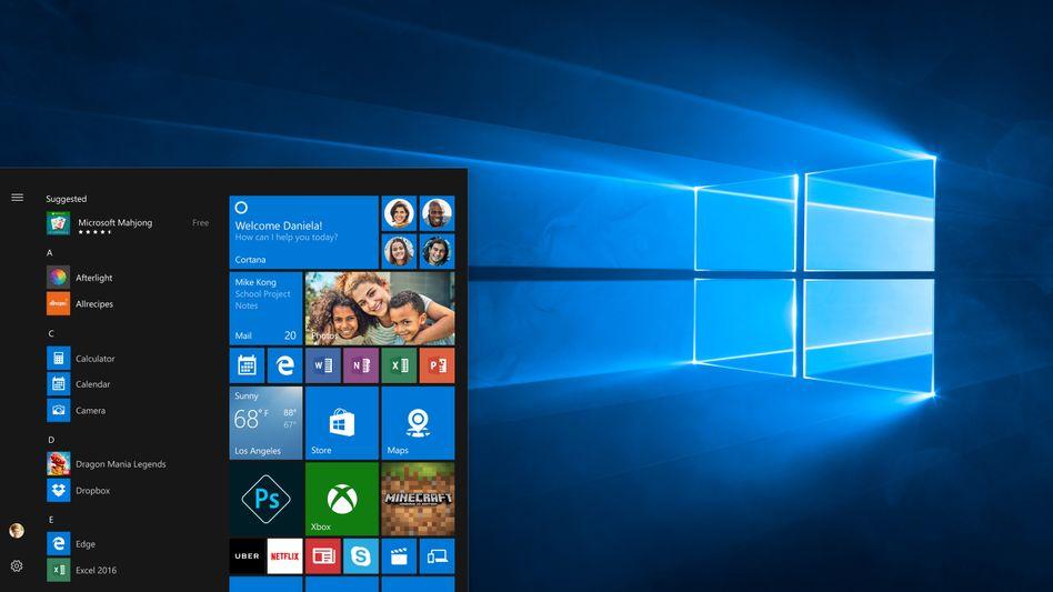 Screenshot von Windows 10
