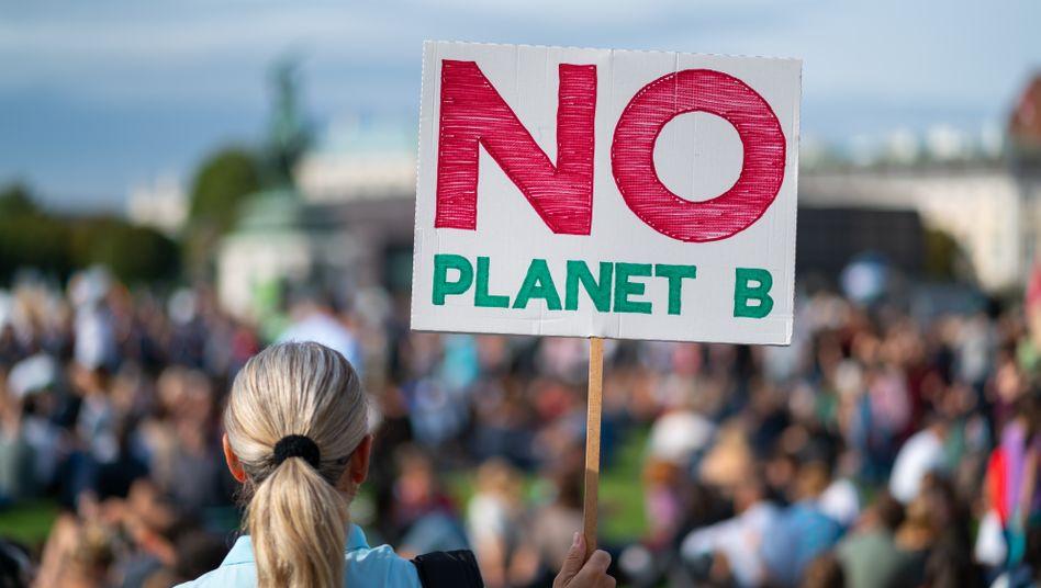 Demo von Umweltschützern: Klimaaktivisten sind vom Gesetz enttäuscht (Archivbild)