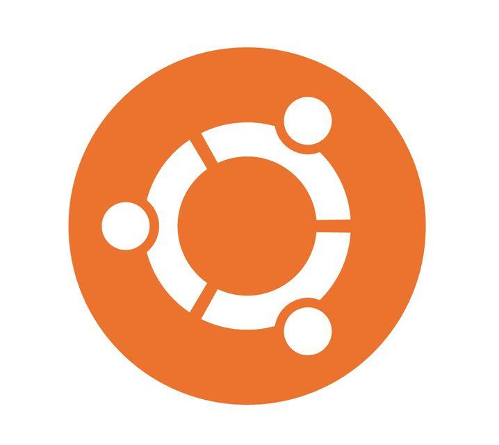 Ubuntu-Symbol Circle of Friends: drei stilisierte Personen, die sich an den Händen halten