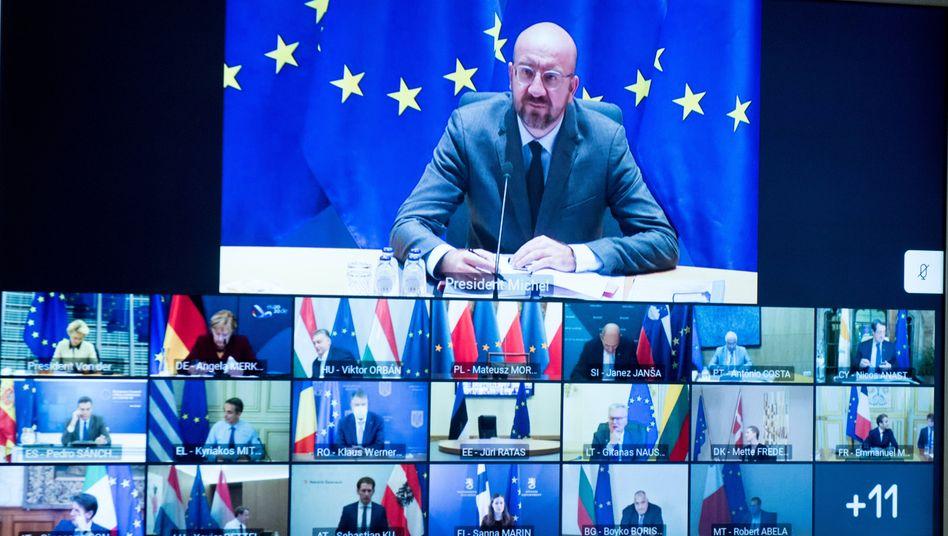 Videokonferenz der Europäischen Union (Symbolbild): »Das zeigt mal wieder, dass Minister einsehen müssen, wie vorsichtig man mit Twitter sein muss«