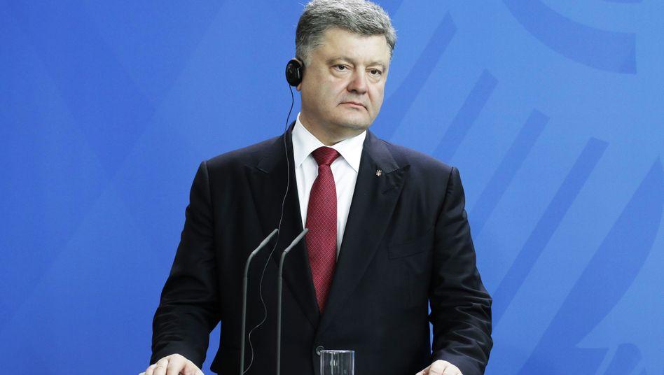 Präsident Poroschenko: Sein Land steht kurz vor dem Bankrott