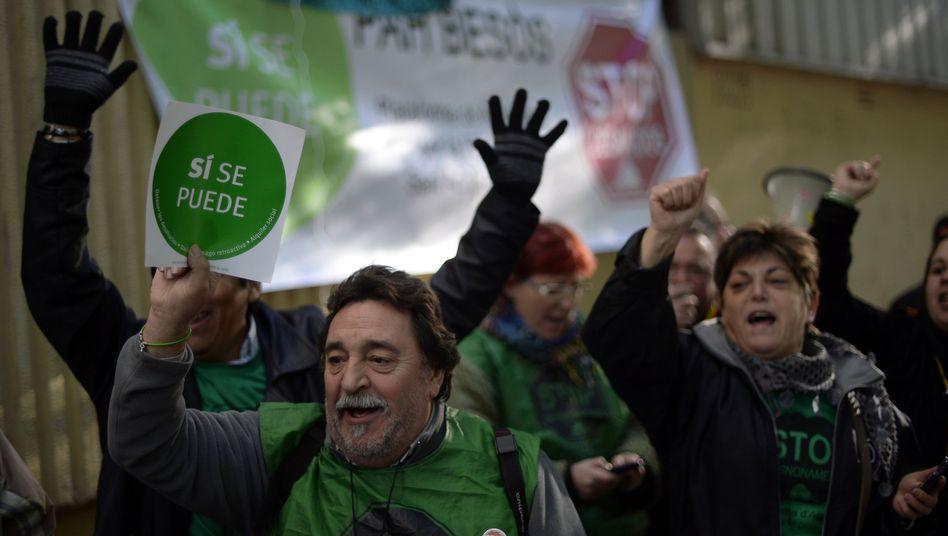 Proteste in Barcelona: Spanien hat mit 27 Prozent die höchste Arbeitslosigkeit