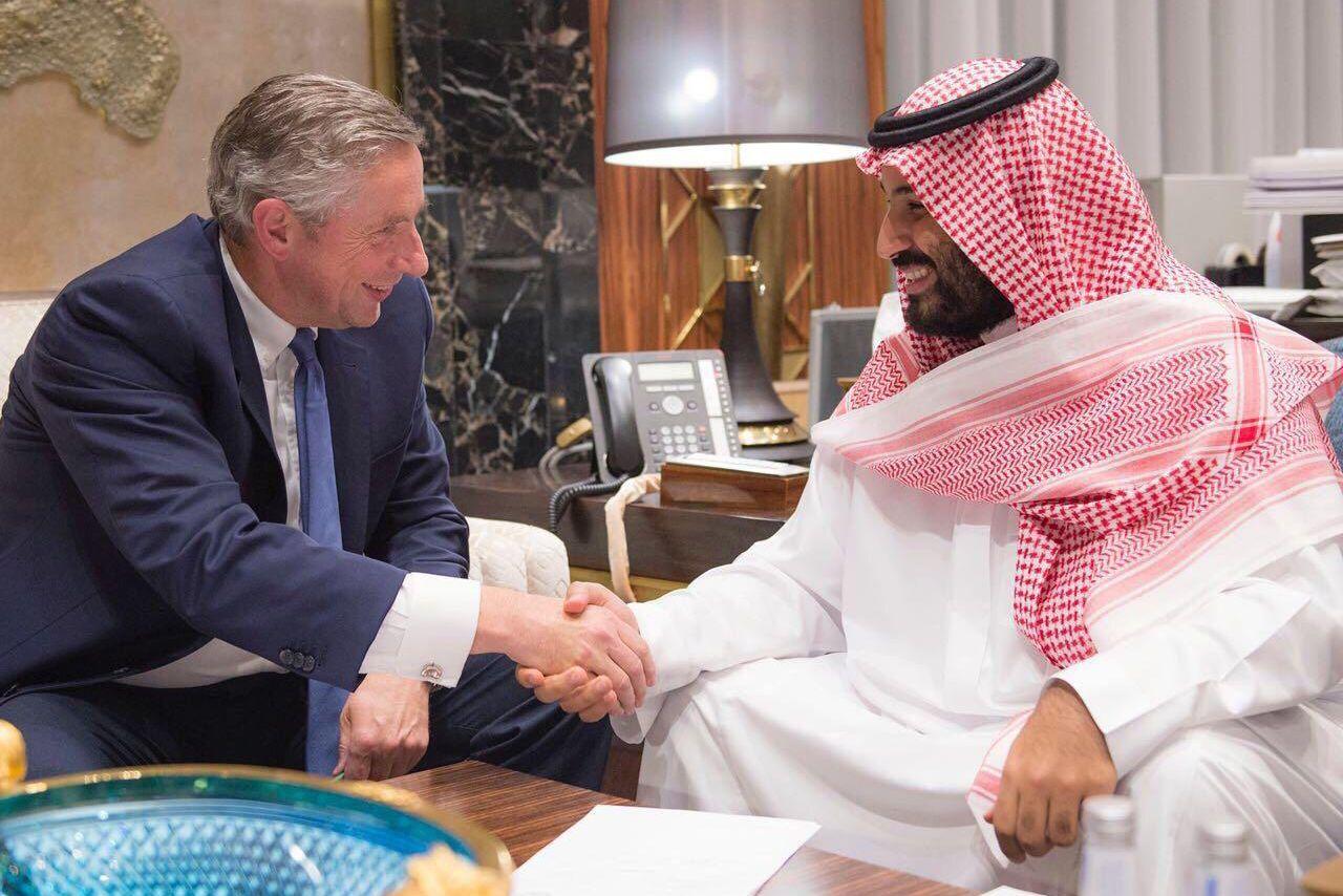 Klaus Kleinfeld und Mohammed bin Salman