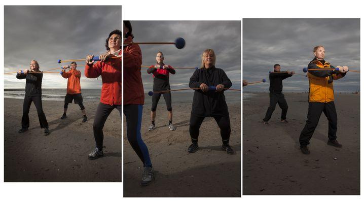 Strandgymnastik im Hochseeklima auf Borkum: Viele Krankheiten, vor allem die leichten, heilt der Körper von selbst
