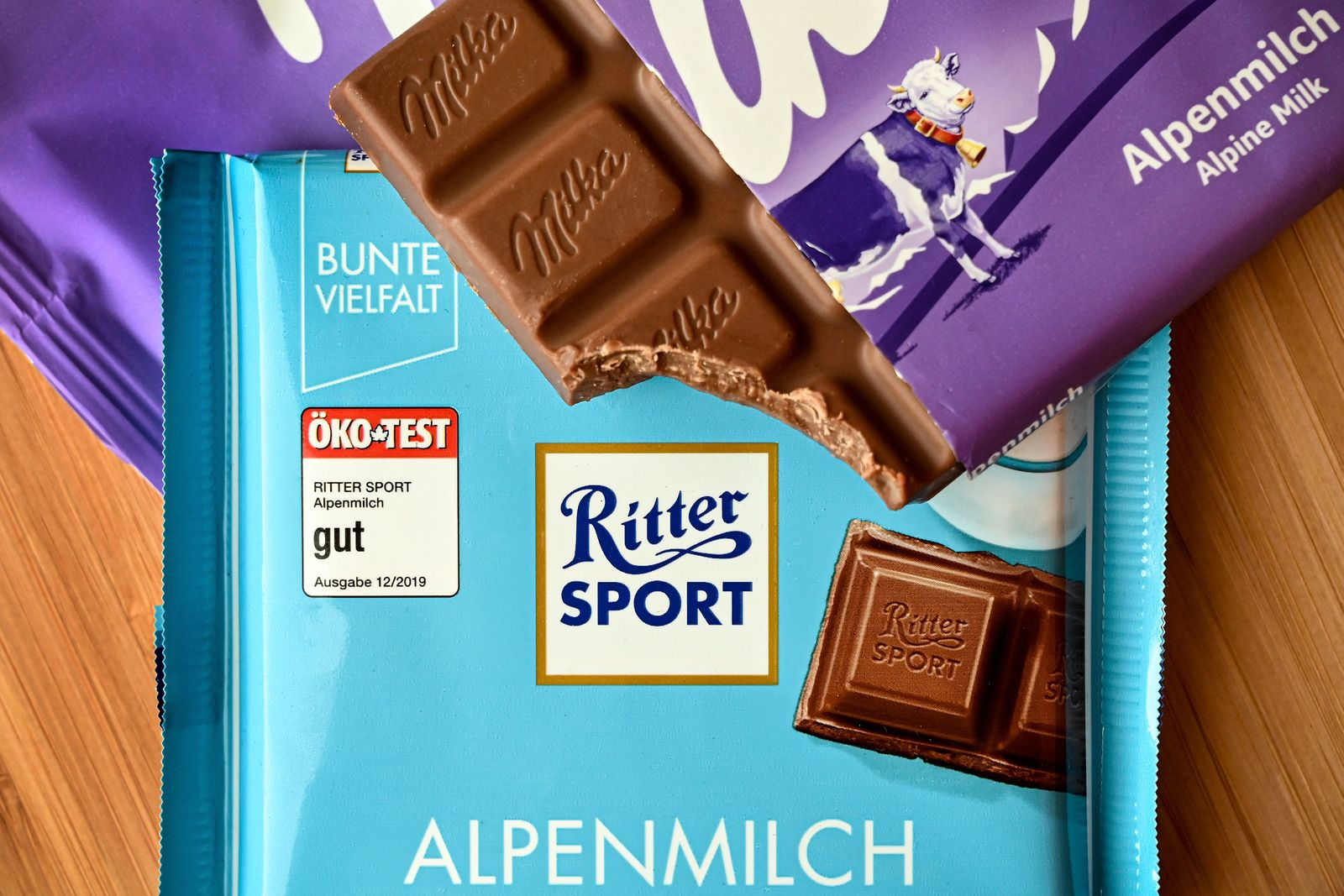 German Federal Court to announce its decision in a chocolate patent lawsuit between Milka and Ritter Sport, Duesseldorf, Germany - 17 Jul 2020
