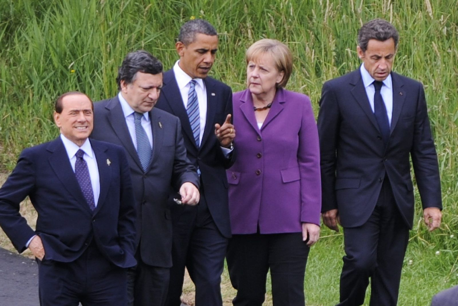 Merkel / Obama / Sarkozy / Barroso / Berlusconi
