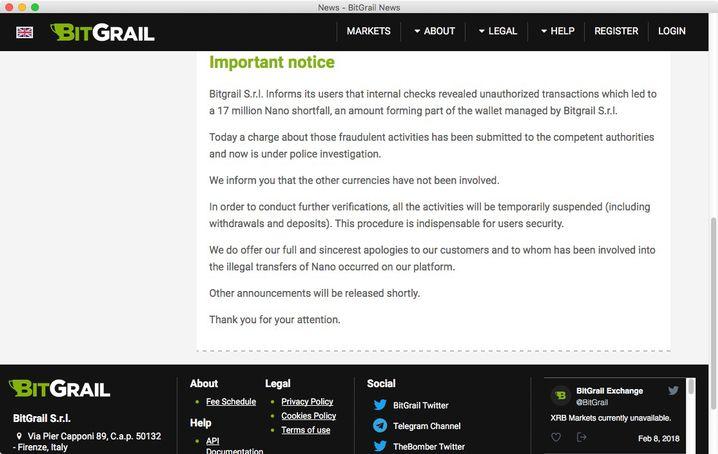 BitGrail-Website