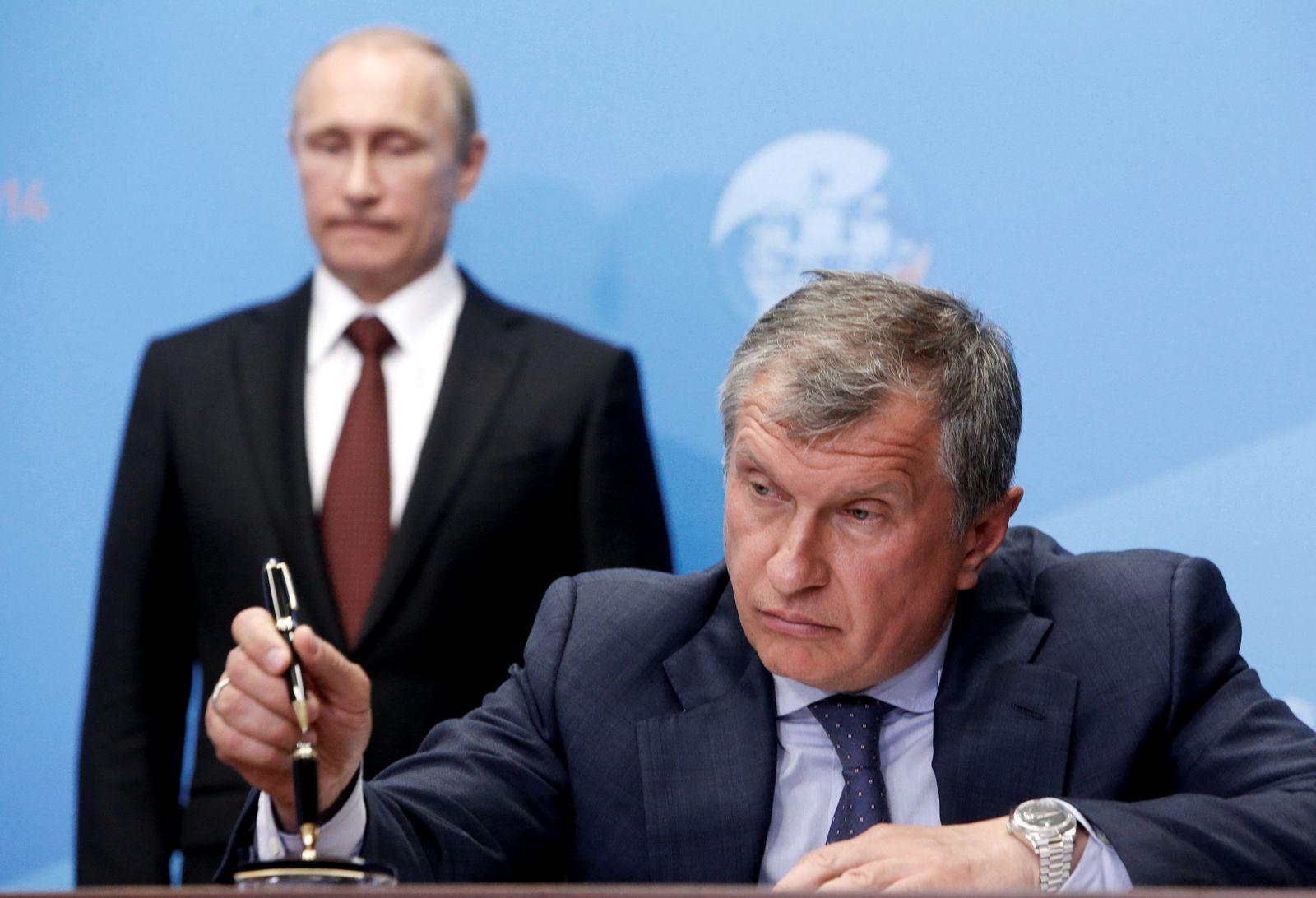 Igor Setschin & Putin