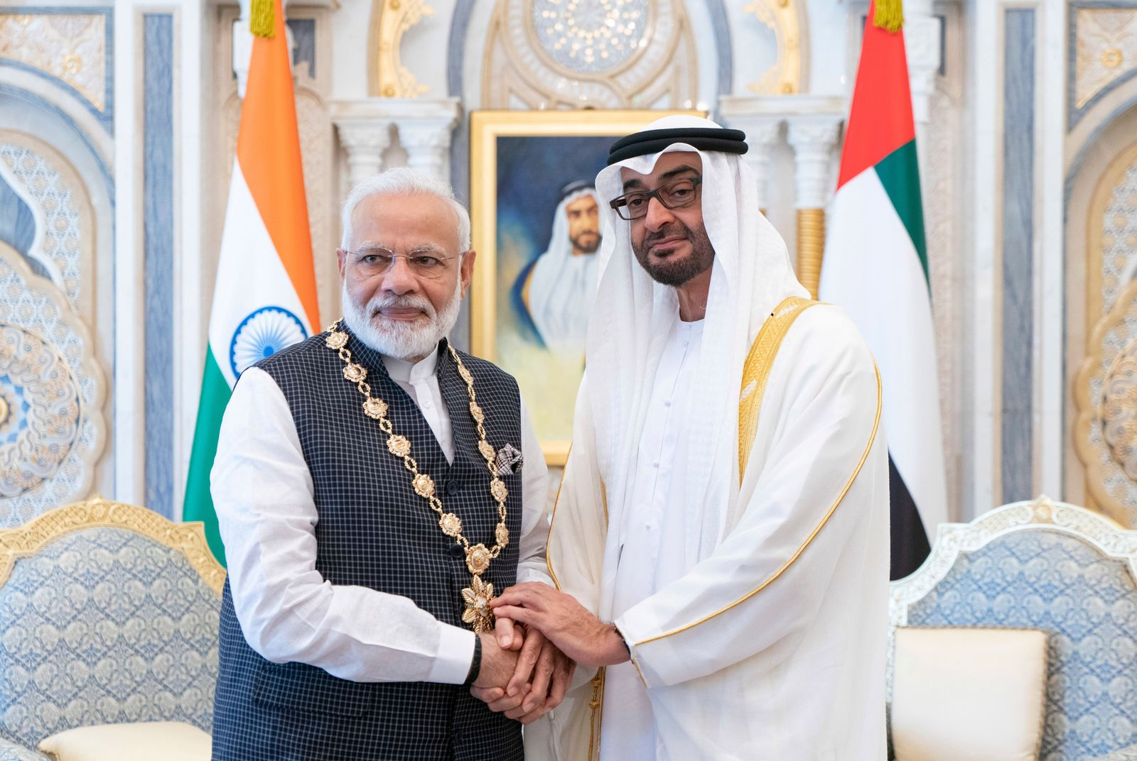 Nrendra Modi/Mohamed bin Zayed Al Nahyan