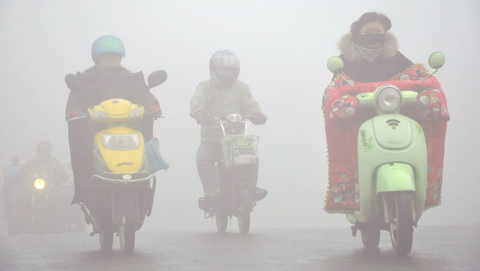 Straßenbild in Yangzhou