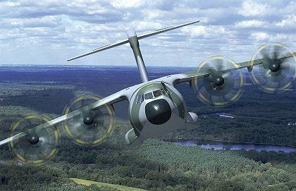 A computer image depicting one thing the Airbus A400M has yet to do: fly.