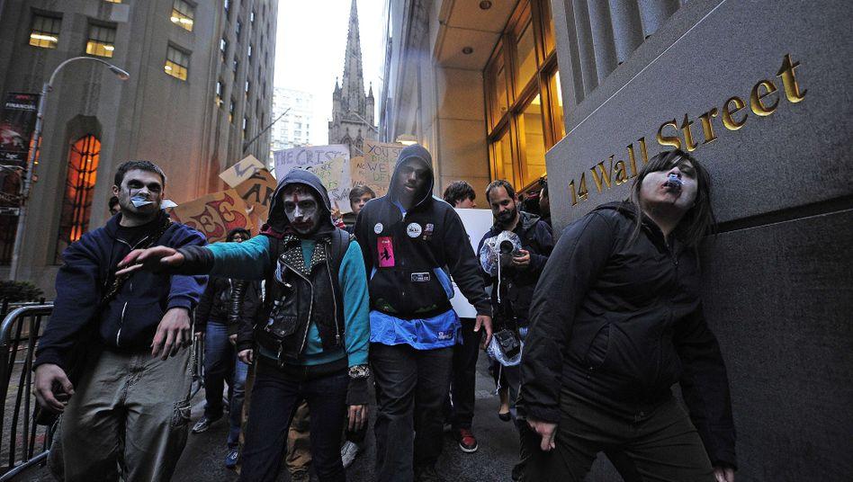 Wall Street-Proteste am 3. Oktober: Verkleidet als Finanzzombies