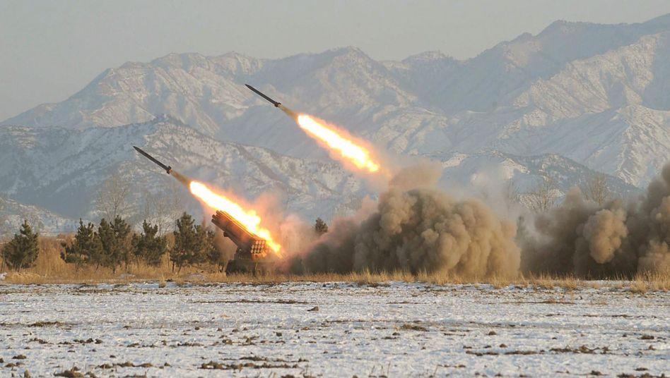 Raketenstarts in Nordkorea