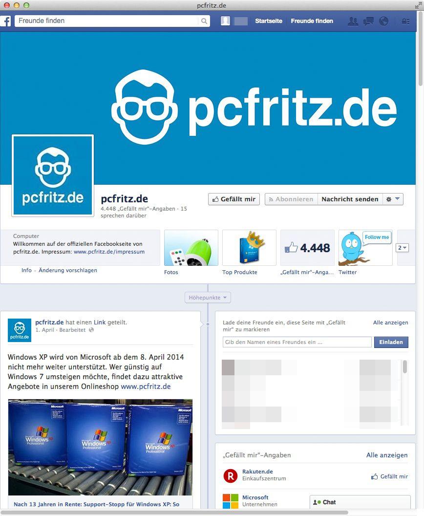 NUR ALS ZITAT Screenshot pcfritz/ PC Fritz