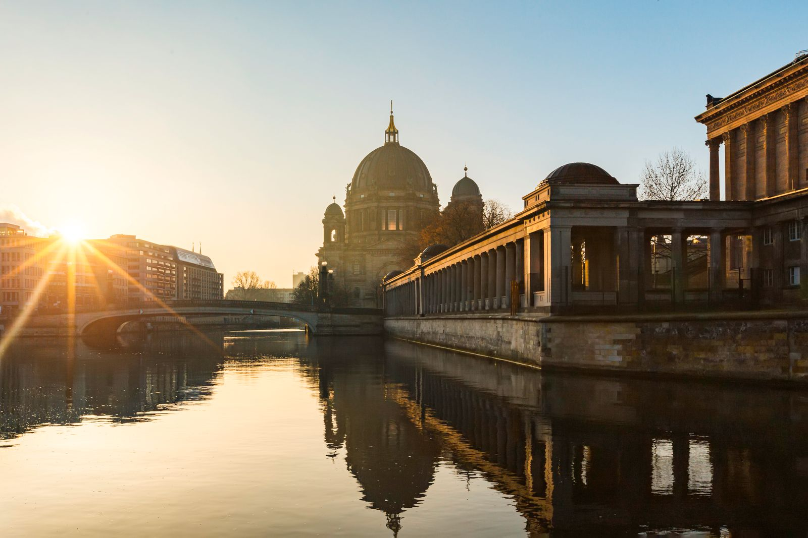 Berlin Cathedral with Spree River at Sunrise, Berlin, Germany