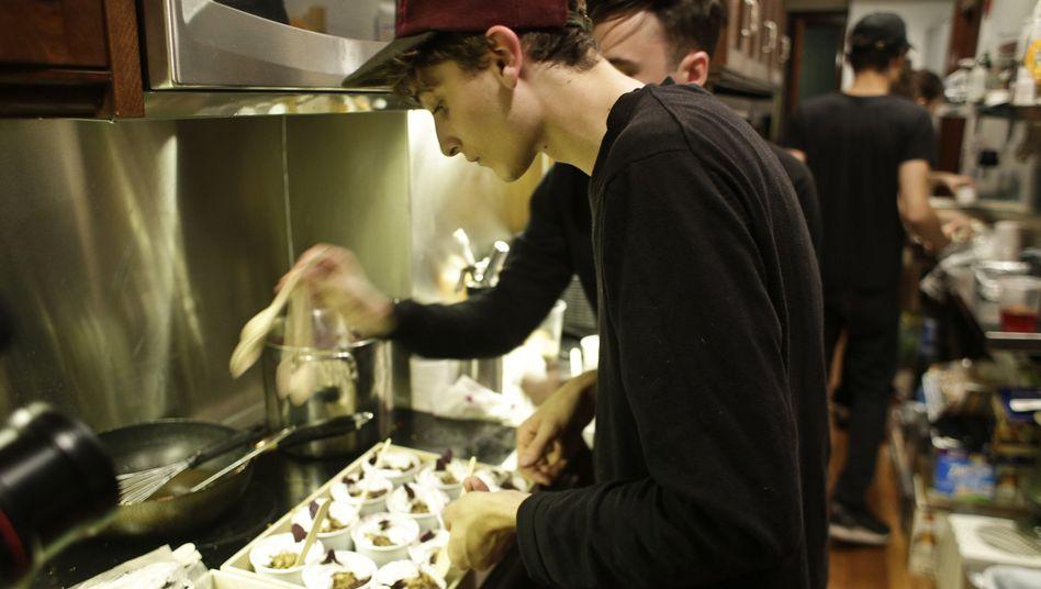 Jonah Reider bei einem Koch-Event in New York