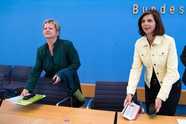 Sylvia Löhrmann, Katrin Göring-Eckardt in Berlin