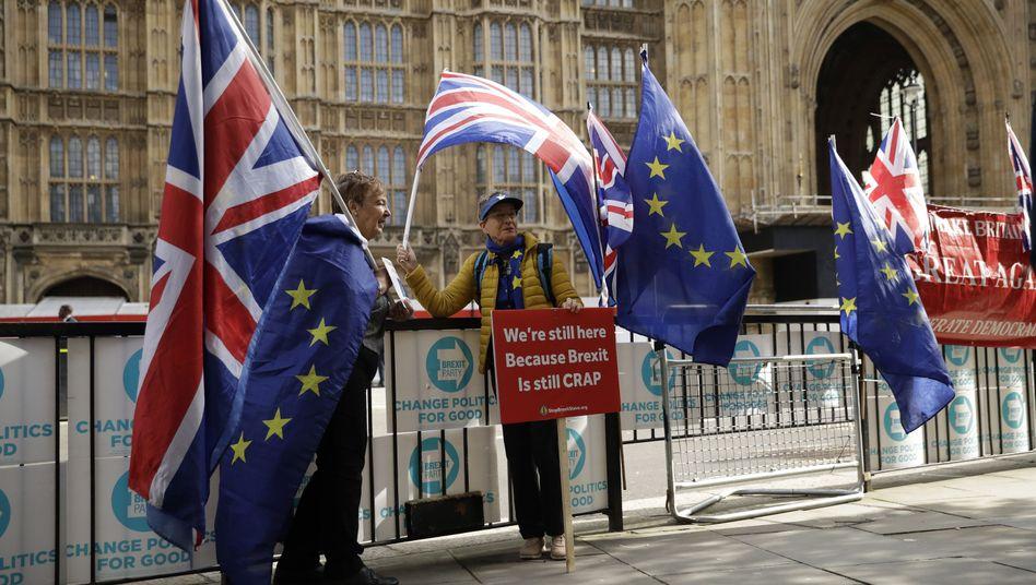 Brexit-Gegner in London: Am 31. Oktober wollen die Briten die EU verlassen