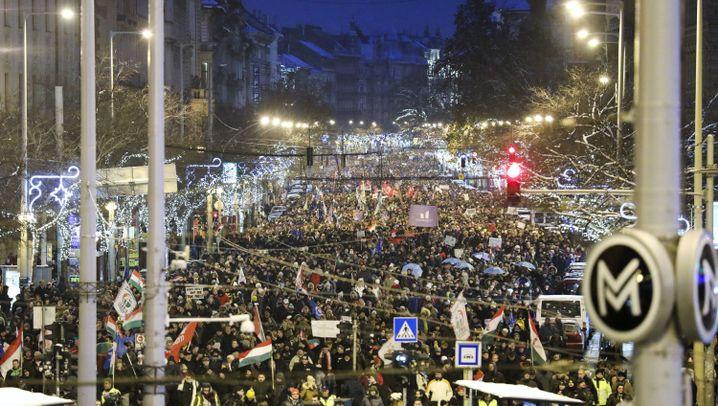 Demos in Ungarn: Die Wut auf Budapests Straßen