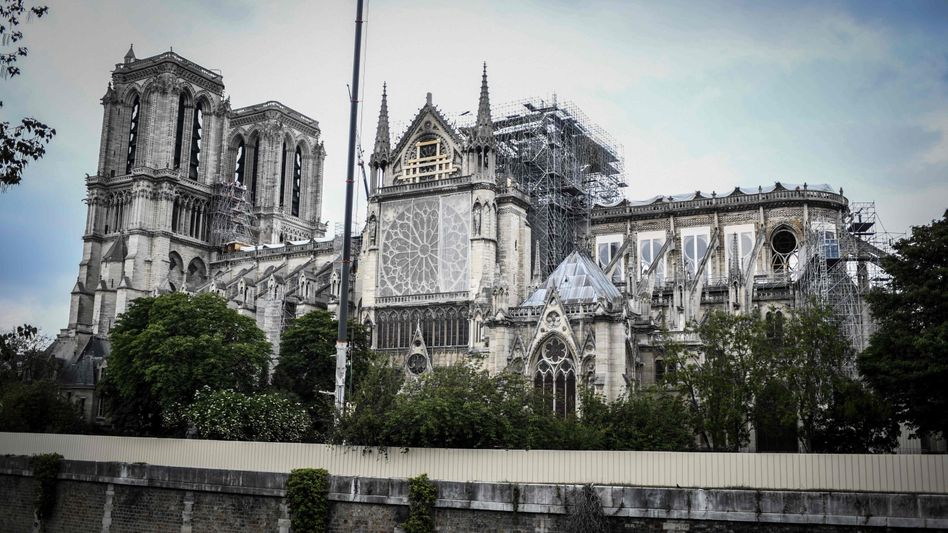 Durch den Brand schwer beschädigt: Kathedrale Notre-Dame