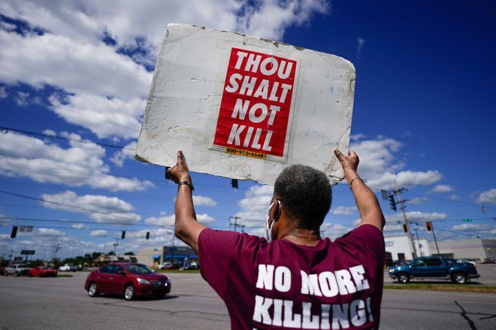 »Du sollst nicht töten«: Protest gegen die US-Todesstrafe unter Trump