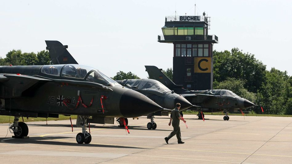Tornado fighter jets stationed at Büchel military base in southwestern Germany, where the country's tactical nuclear weapons are likely stored.