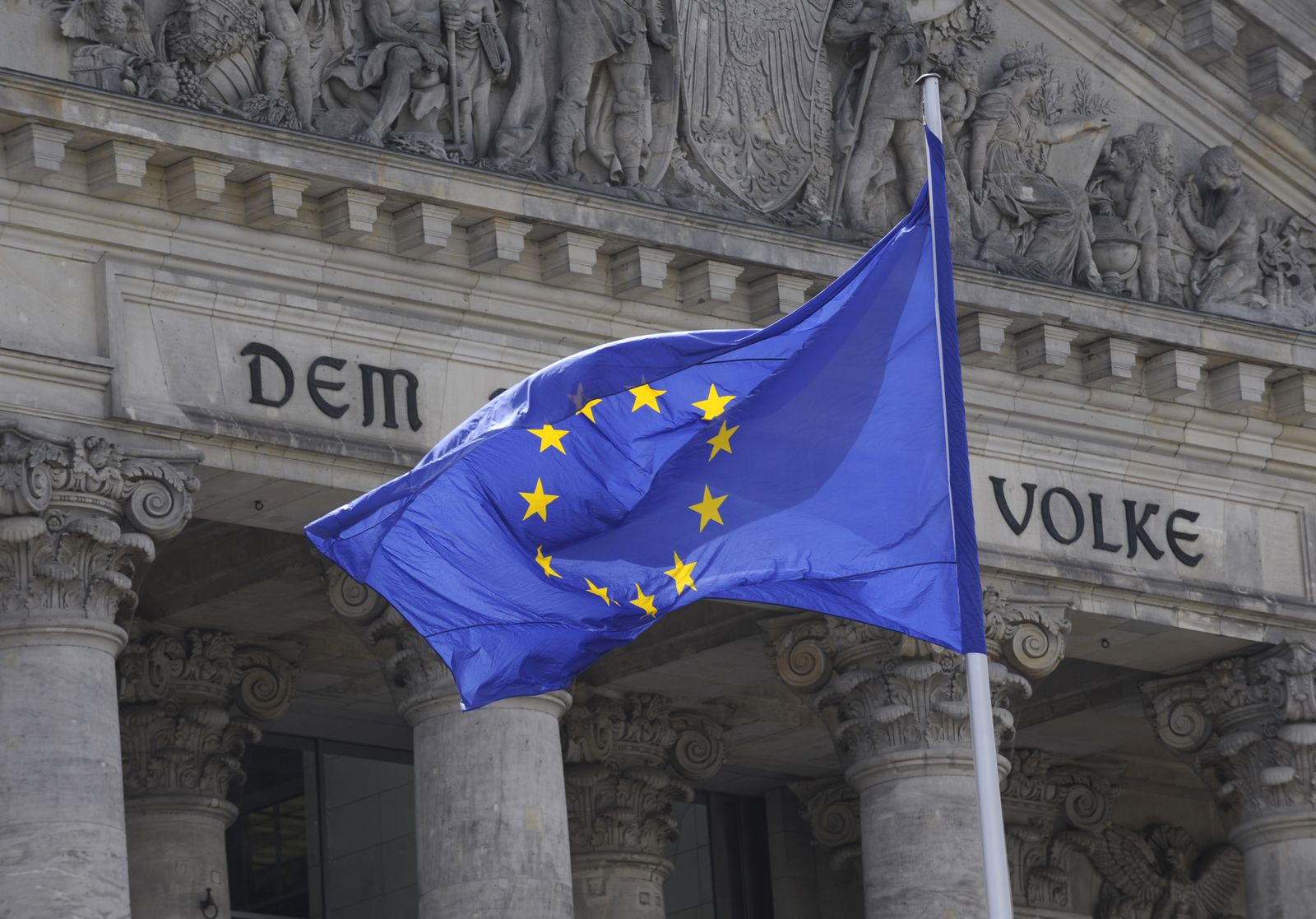 Europäische Flagge / Reichstag
