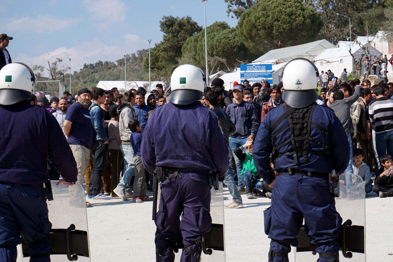 Flüchtlin ge Lesbos
