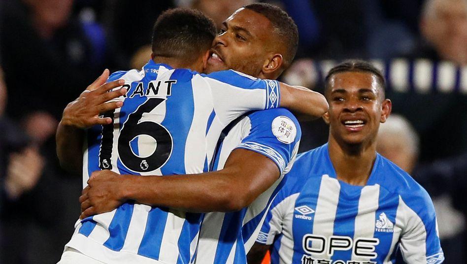 Huddersfields Steve Mounie (M.)