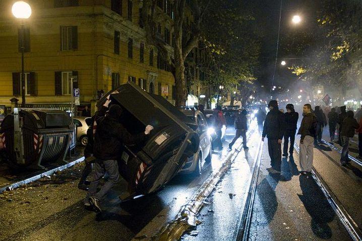 Randale in Rom: Solidaritätsproteste für getöteten Griechen