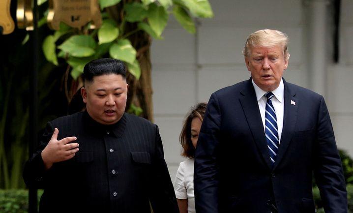 Kim und Trump in Hanoi (Archiv): Nach außen im Guten