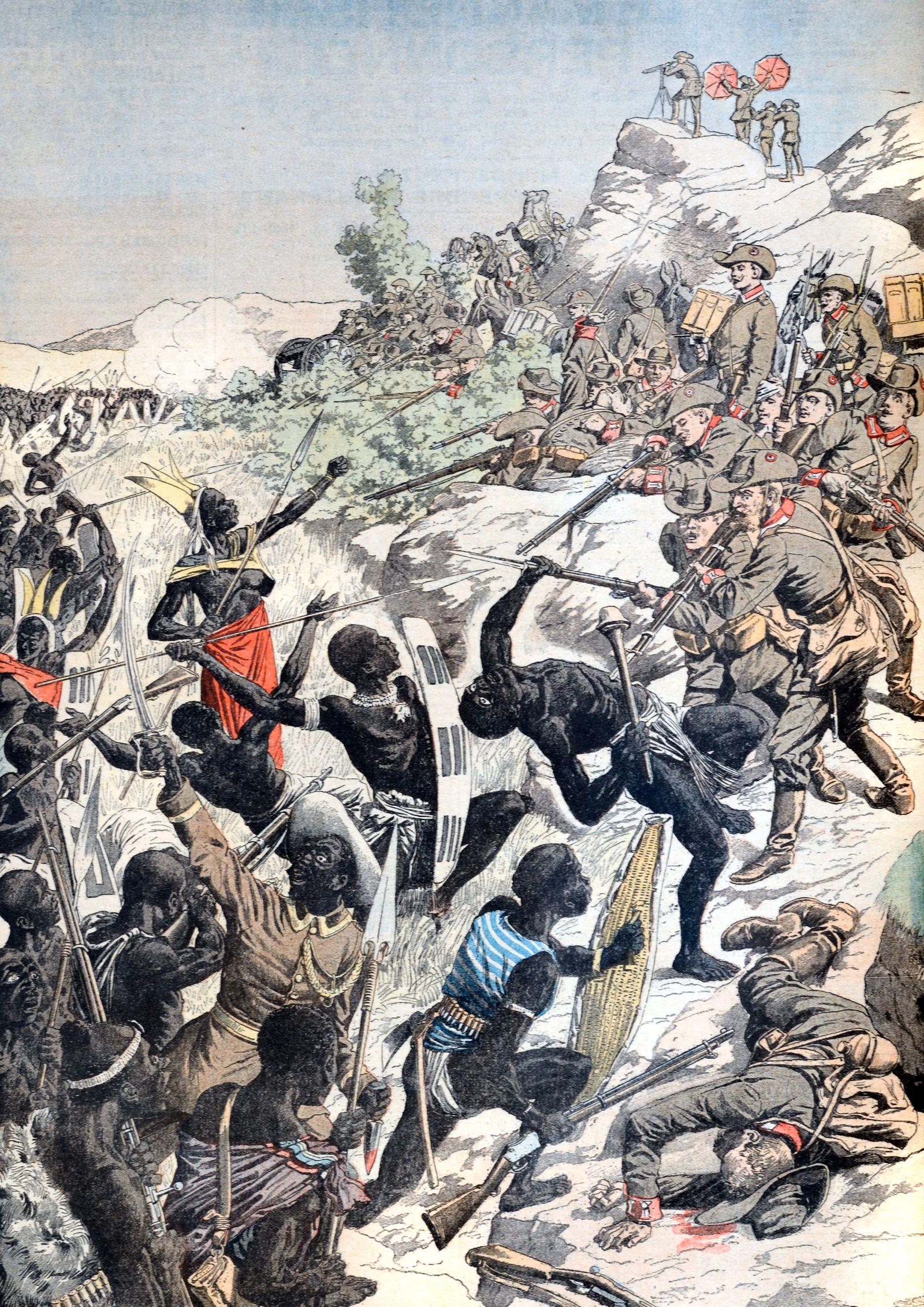 Battle Bet Herero & German Colonials Windhoek Namibia (Feb 1904)