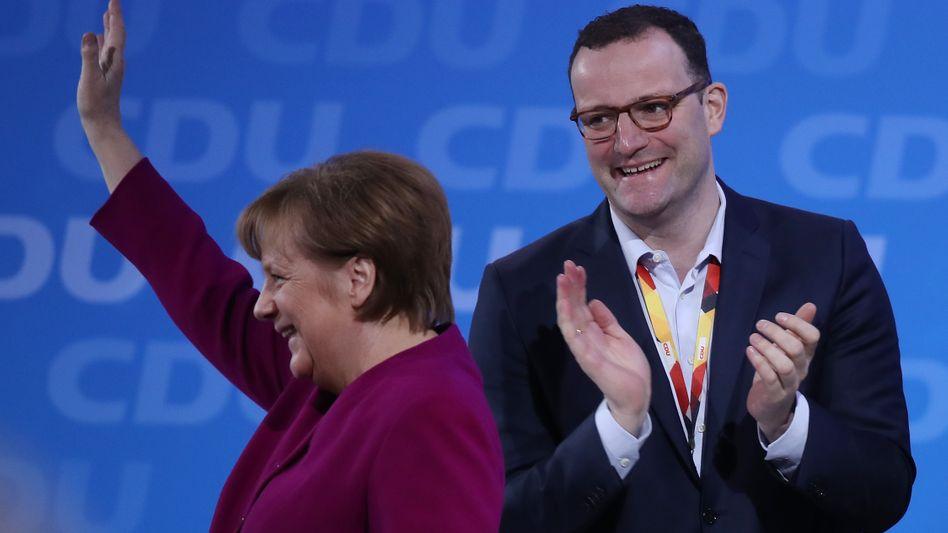 Angela Merkel und Jens Spahn