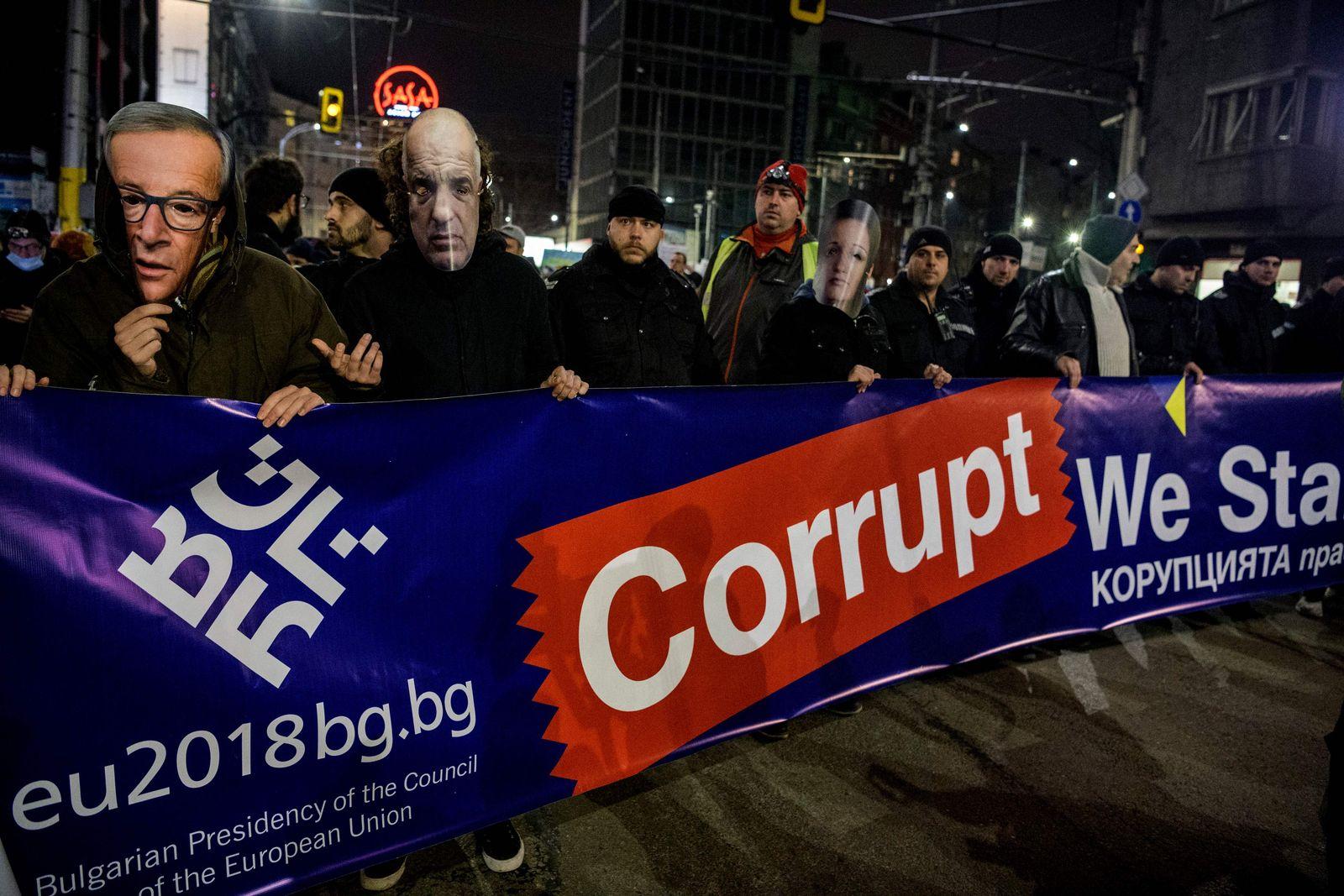 Bulgarien/ Korruption/ Demonstration/ Protest