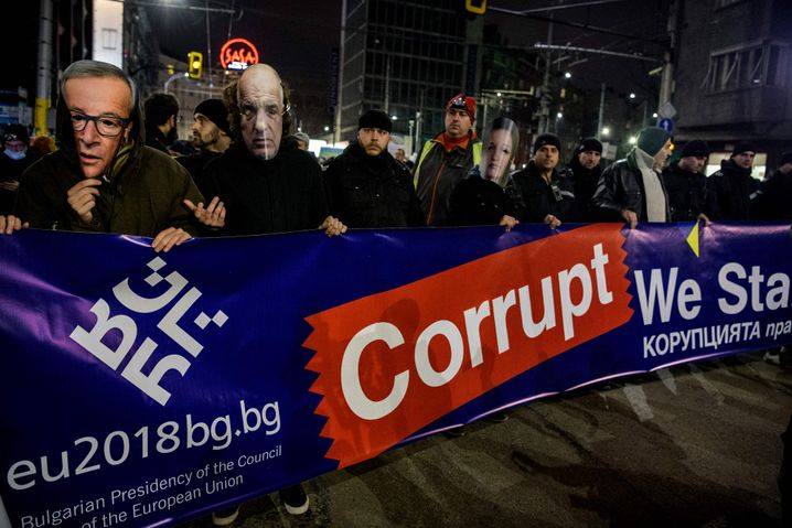 Protest gegen Korruption in Sofia (2018): Von Rechtstaatlichkeit weit entfernt