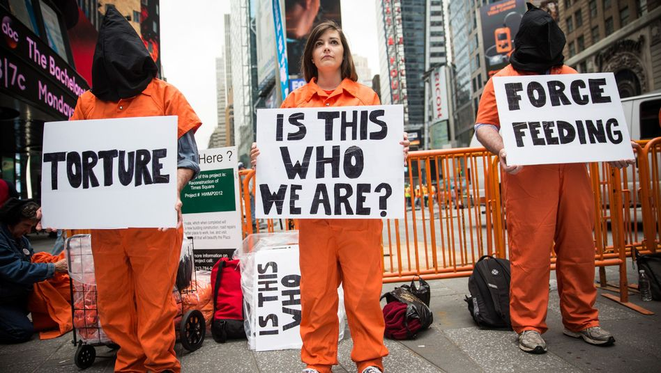 Protest gegen Guantanamo in New York (Archiv): Brutale CIA-Praktiken