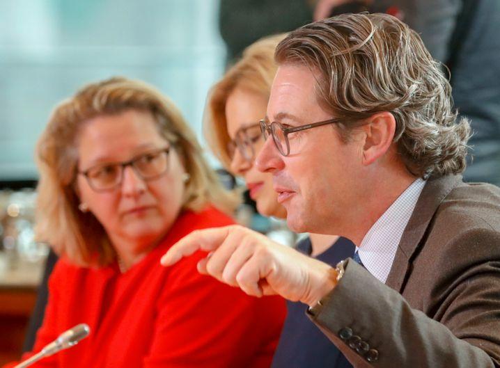 Umweltministerin Schulze (SPD) mit Verkehrsminister Scheuer (CSU)
