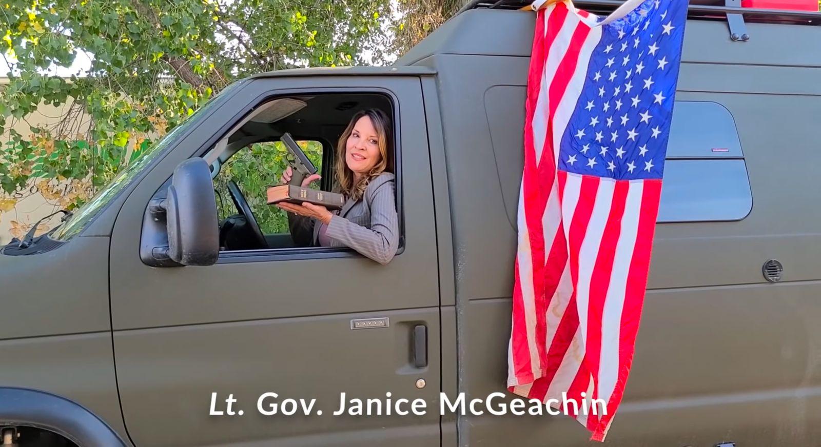 Screenshot aus Video mit Lt. Gov. Janice McGeachin