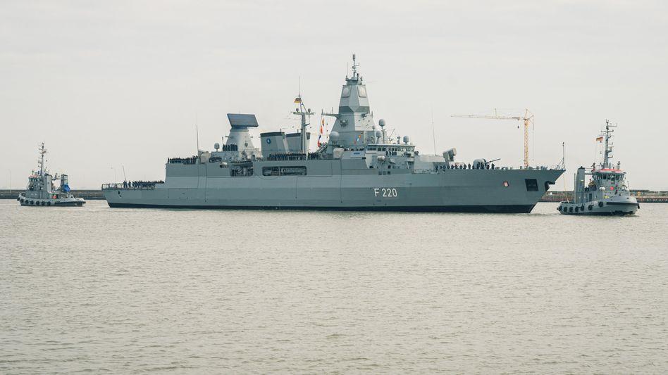 Fregatte »Hamburg«: Die Besatzung brach die Untersuchung des türkischen Frachters ab