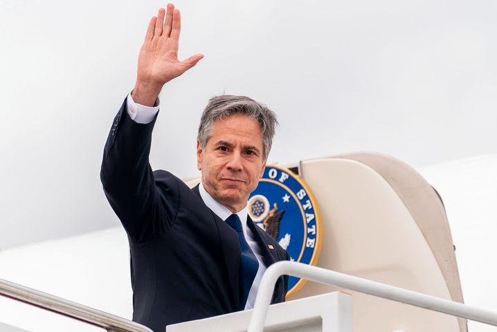 Blinken vor seiner Abreise nach Berlin