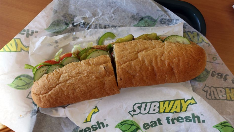 Süße Pause: Sandwich der Fast-Food-Kette Subway