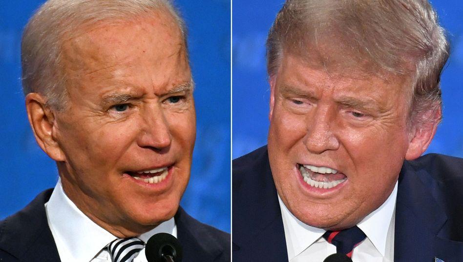 Joe Biden und Donald Trump: Das letzte Duell vor der Wahl steigt in dieser Woche