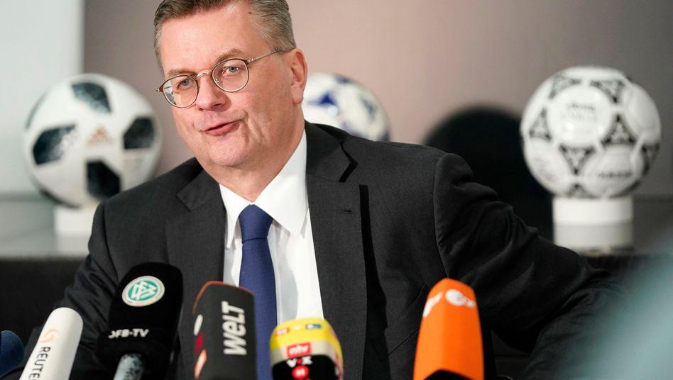 Reinhard Grindel war drei Jahre DFB-Präsident. Am Dienstag trat er zurück.