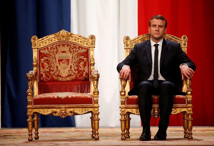 Emmanuel Macron im Umfragetief