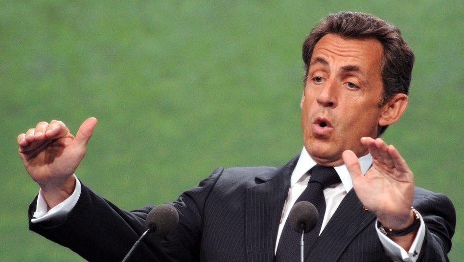 Frankreichs Präsident Sarkozy: Warnung durch die Fifa