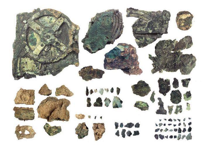 Fragmente des Antikythera-Mechanismus