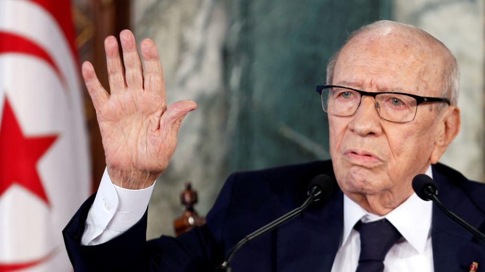 """Tunesiens Präsident Béji Caïd Essebsi: """"Befohlen, vorbereitet und verschwiegen"""""""