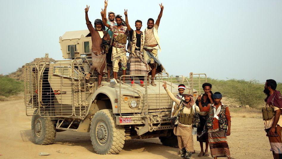 Von Saudi-Arabien unterstützte Kämpfer im Jemen